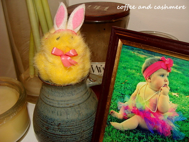 Easter chick on the shelf