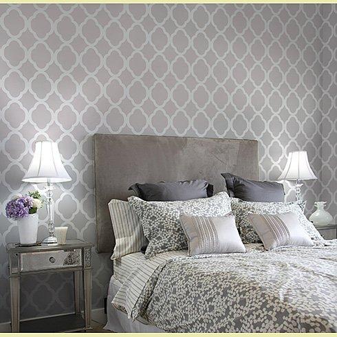 Decoraci n de dormitorio con papel pintado al estilo - Casas de papel pintado ...