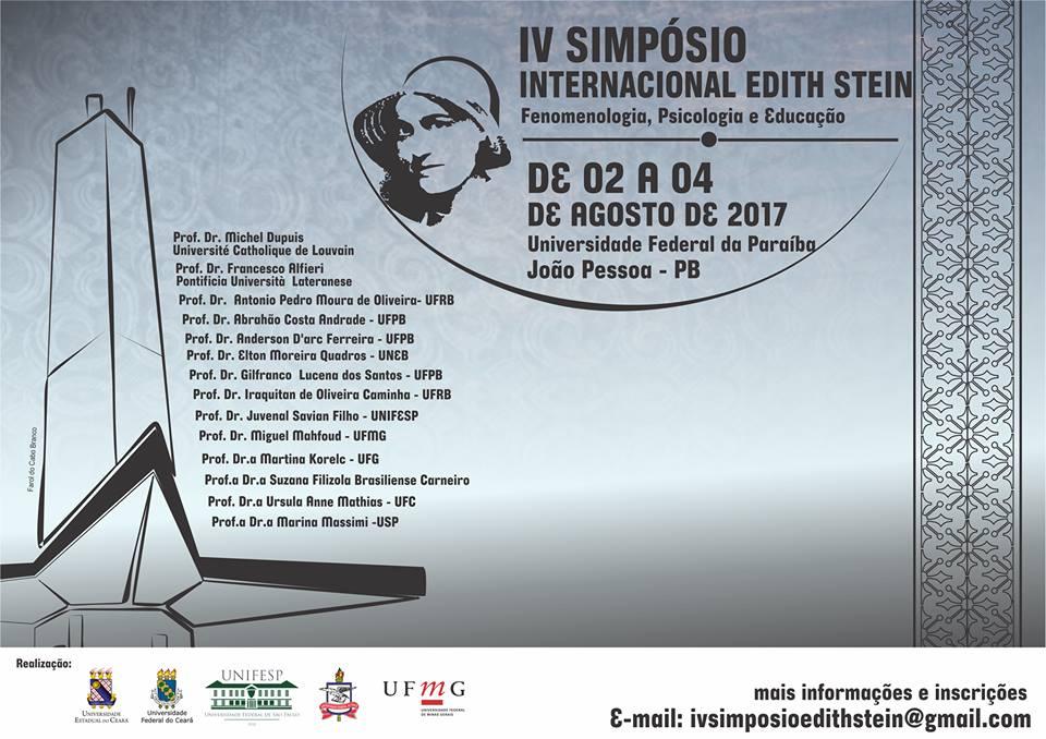IV SIMPÓSIO INTERNACIONAL EDITH STEIN