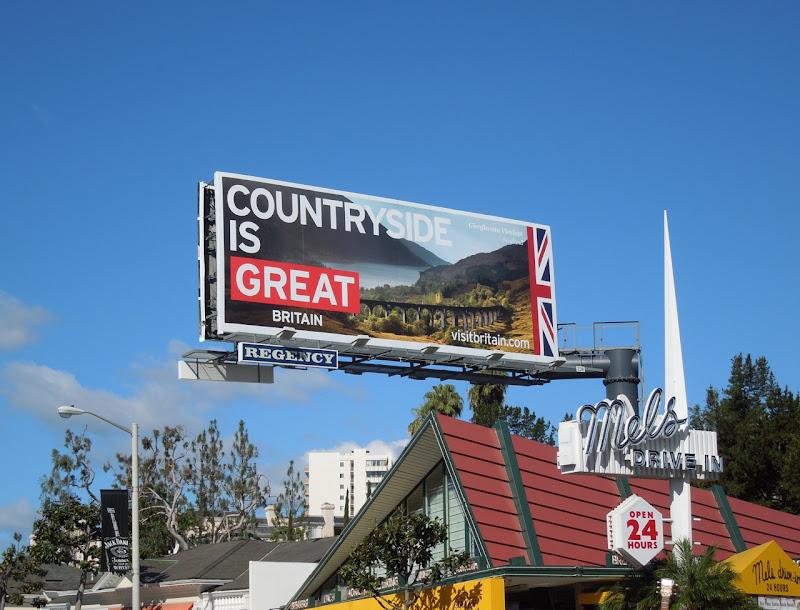 Visit Britain Countryside billboard