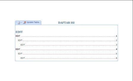 Cara Mudah Membuat Titik-Titik Untuk Daftar Isi di Microsoft Word 2007 dan Word 2010 tahap ketiga