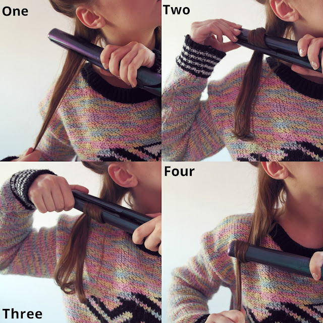 Place a section of hair in the flat iron at the root of your hair.