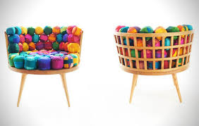 Fun And Funky Furniture Made From Oak And Recycled Silk.
