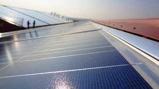 PV Panels on Warehouse Roof