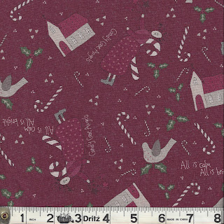 Lecien CANDY CANE ANGELS Christmas Quilt Fabric by Lynette Anderson