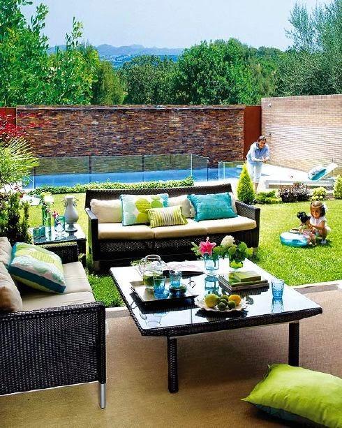 Decoraci n de jardines elegantes como decorar el hogar for Decoracion jardines modernos