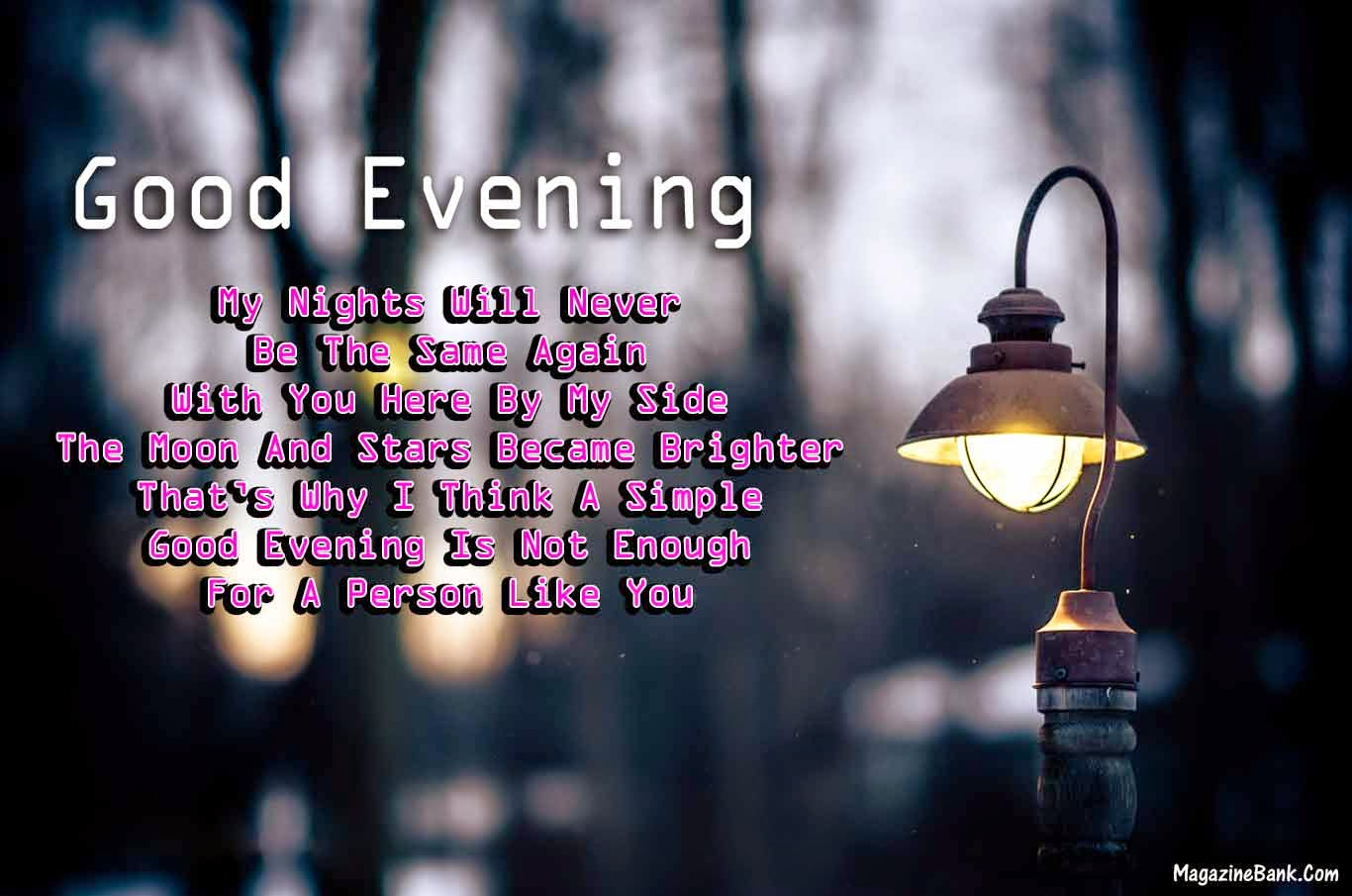 Good Evening Text Messages Latest Quotes With Images