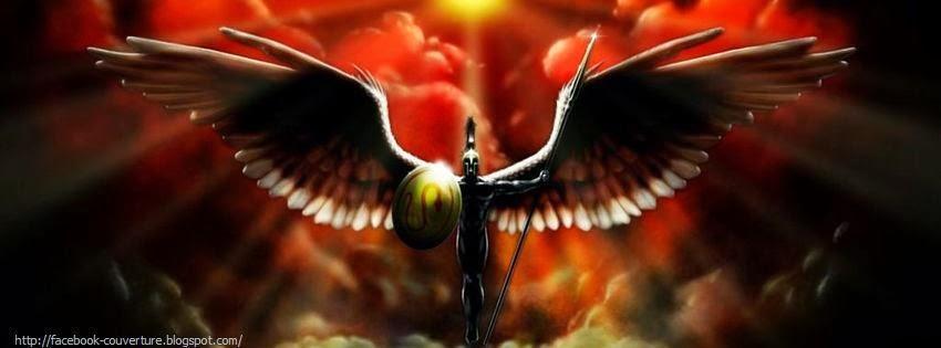 Couverture pour facebook ange et demon