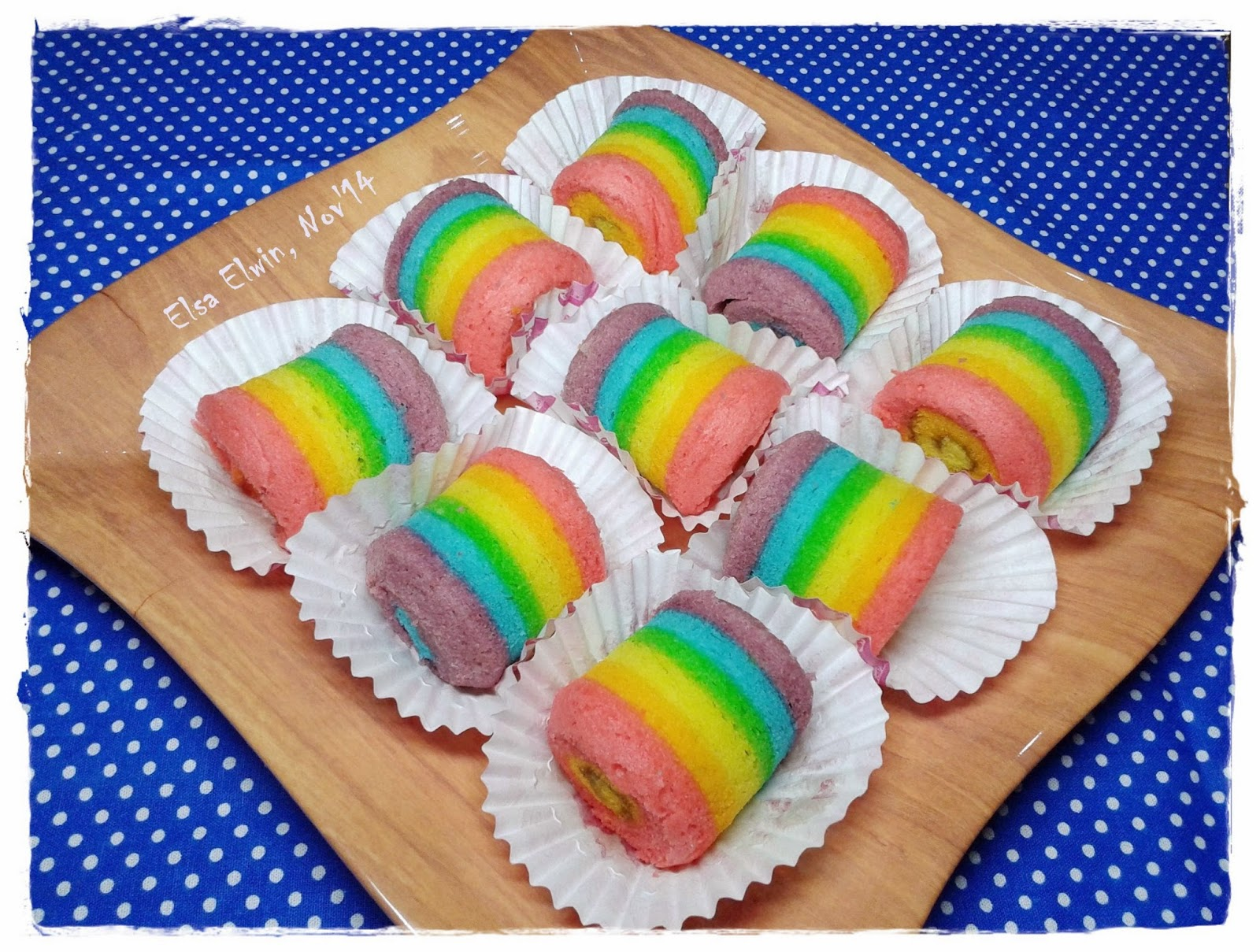 Elsa Elwin Mini Rainbow Roll Cake