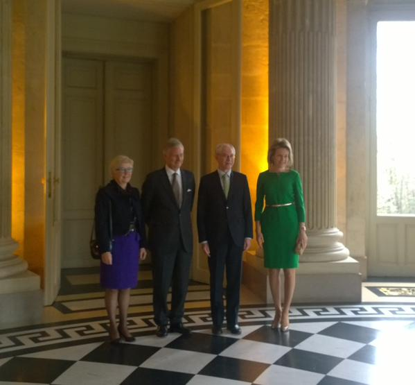 European Council President Herman Van Rompuy and his wife Geertrui Van Rompuy