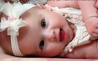 Foto Gambar Bayi Lucu Perempuan Bikin Gemes