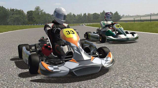 Kart racing pro video pique en pista