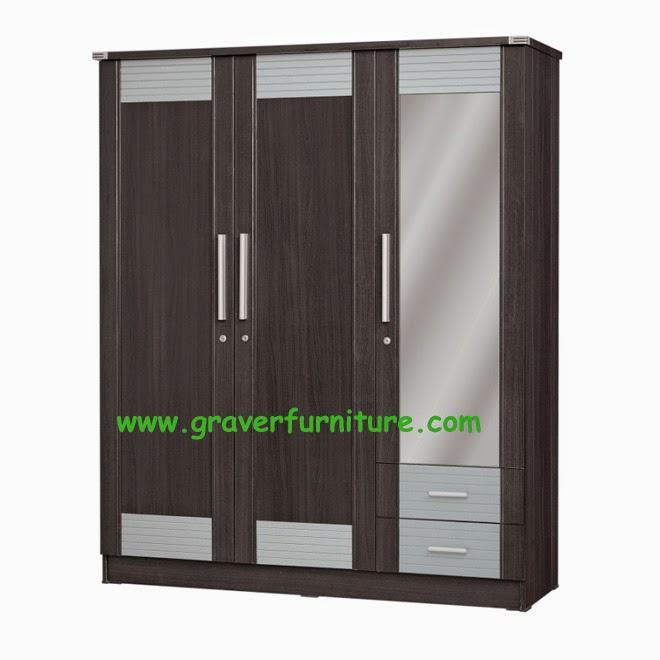 Lemari Pakaian 3 Pintu LP 2898 Graver Furniture