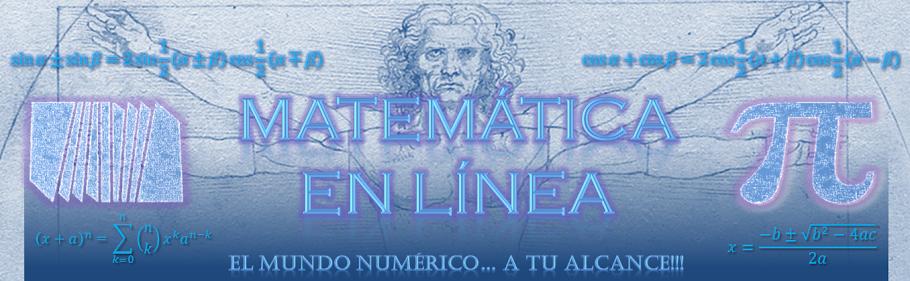 Matemática en Línea | El mundo numérico... A tu alcance.