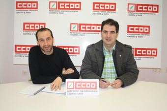 miembros del sindicato CCOO sector carnicas