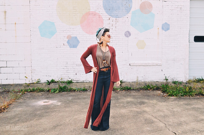 Cleveland Ohio fashion - boho style bell bottoms