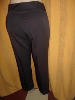 calça social marrom poliéster com elastano