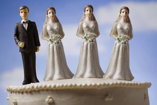 should polygamy be legalized I'm going to vote no as there is a real potential problem here assume the following: 1 there will be more plural marriages with one man and multiple wives.