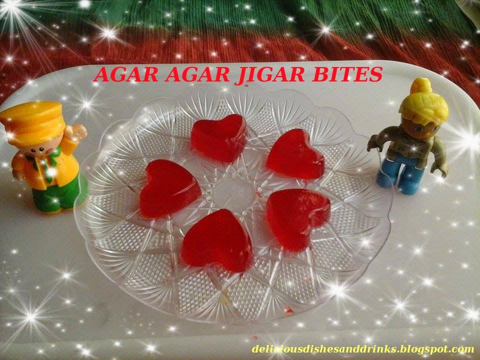 Delicious dishes and drinks agar agar jigar bites for Agar agar cuisine
