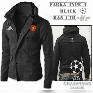 Jaket Parka Manchester United Black Murah