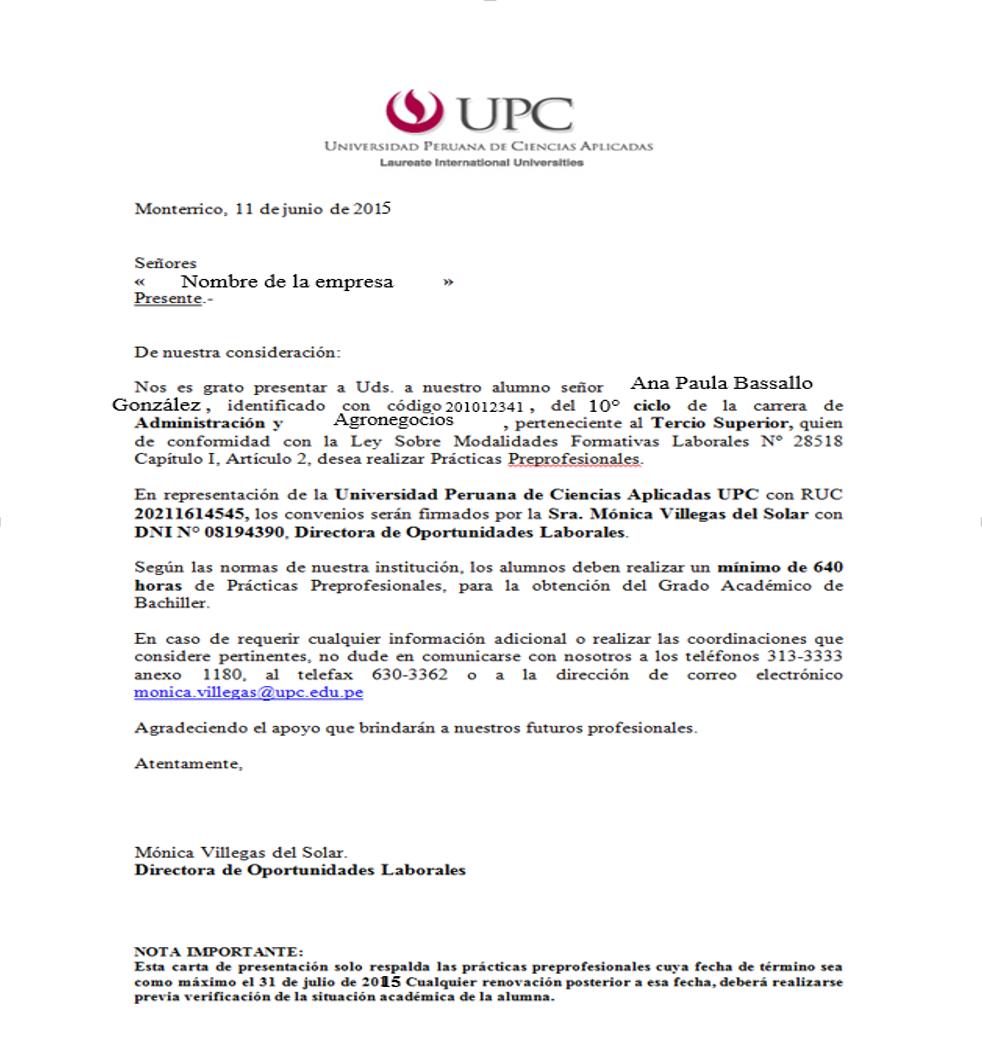 Lujoso Reanudar Carta De Presentación De Prácticas De Contabilidad ...