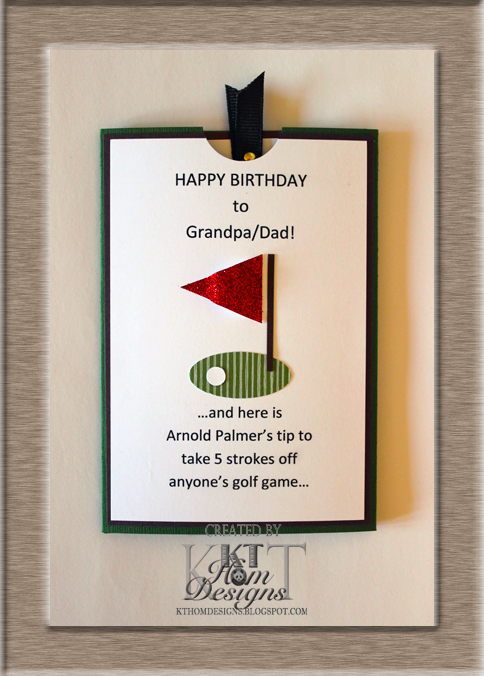 Kt hom designs golfing card for dads birthday golfing card for dads birthday bookmarktalkfo Choice Image