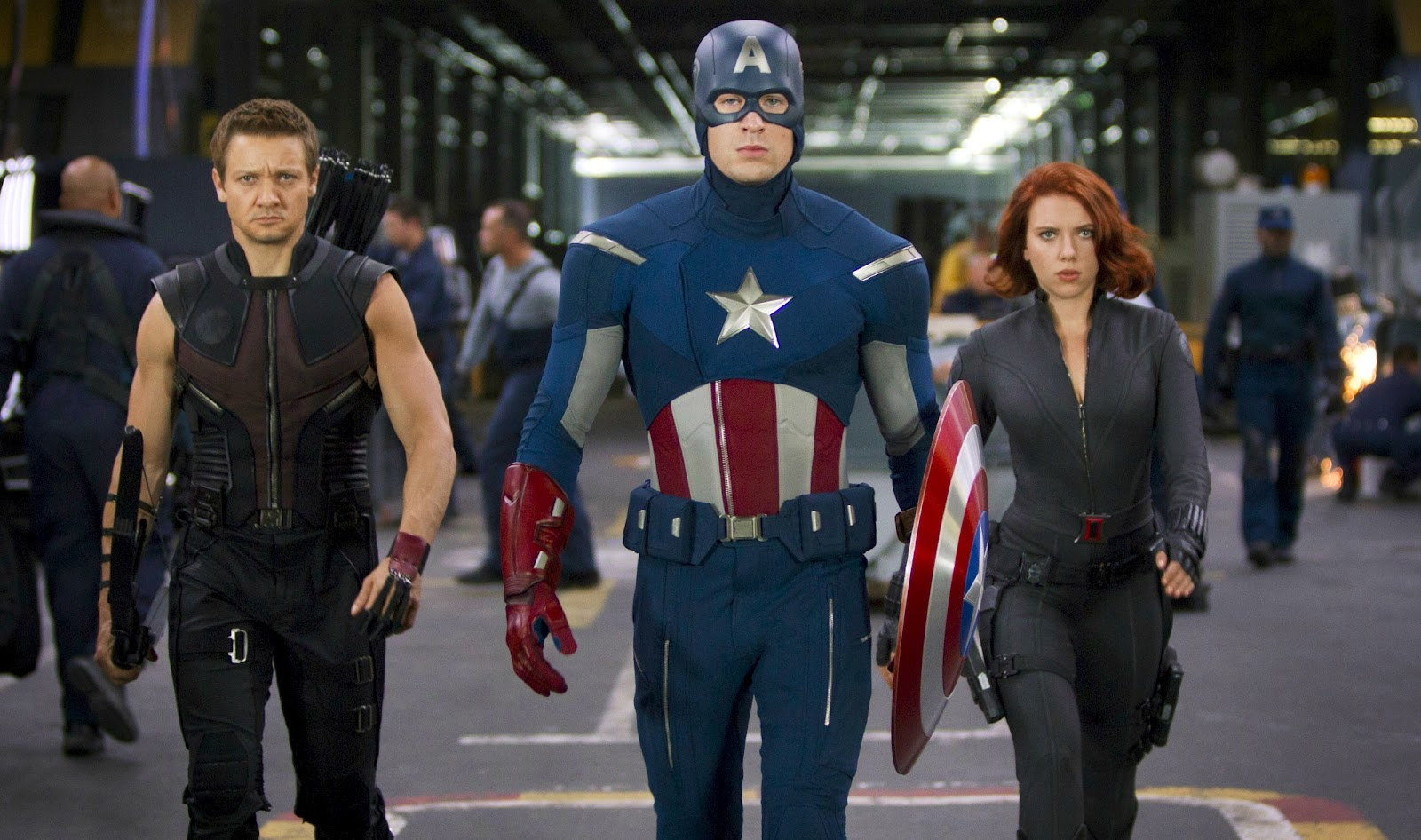 Black Widow  Hawkeye And Maria Hill Showing Up In  CAPTAIN AMERICA 2