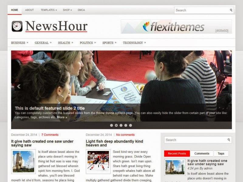 NewsHour - Free Wordpress Theme