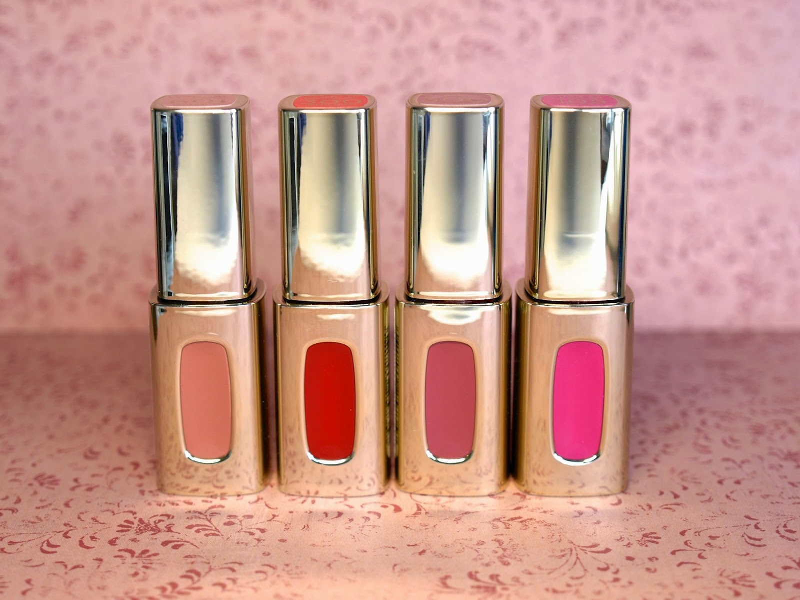 "L'Oreal Color Riche Extraordinaire Lip Colors in ""Orange Tempo"", ""Molto Mauve"", ""Pink Tremolo"" & ""Nude Ballet"" Review and Swatches"