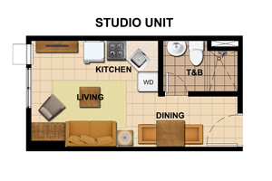 Avida Towers Vita Studio Unit Plan