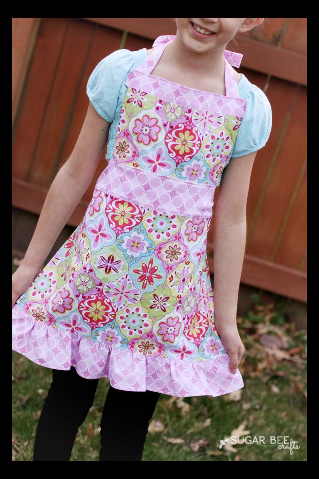 Cute Girls Apron Tutorial Apron Patterns for Children Enchanting Apron Patterns Free