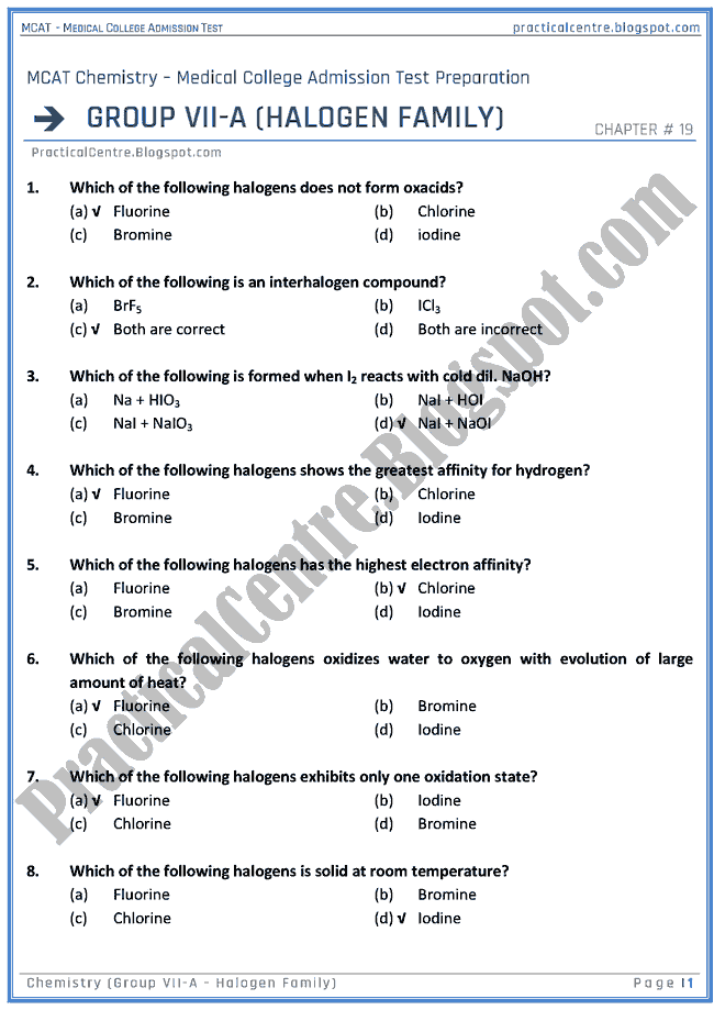 mcat-chemistry-group-vii-a---halogen-family-mcqs-for-medical-college-admission-test