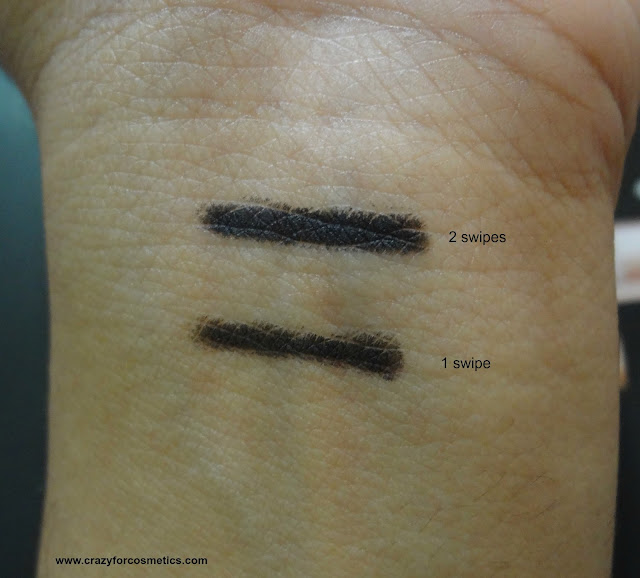 swatches of Plum Goodness true black khol