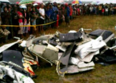 pesawat merpati jatuh
