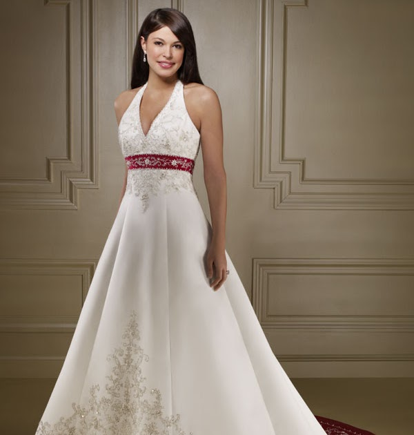 Red and white wedding dresses for Red and white wedding dresses 2012