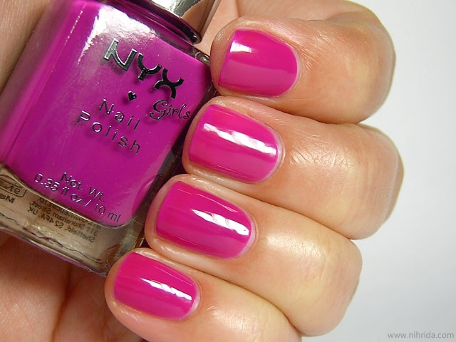 NYX Girls Nail Polish in Shocking Purple