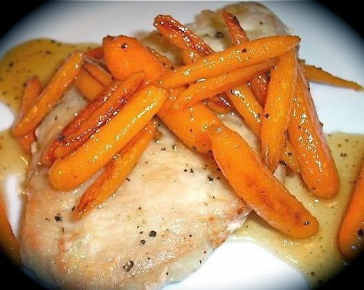 The Briny Lemon: Pan-Seared Pork Chops with Honey-Glazed Carrots