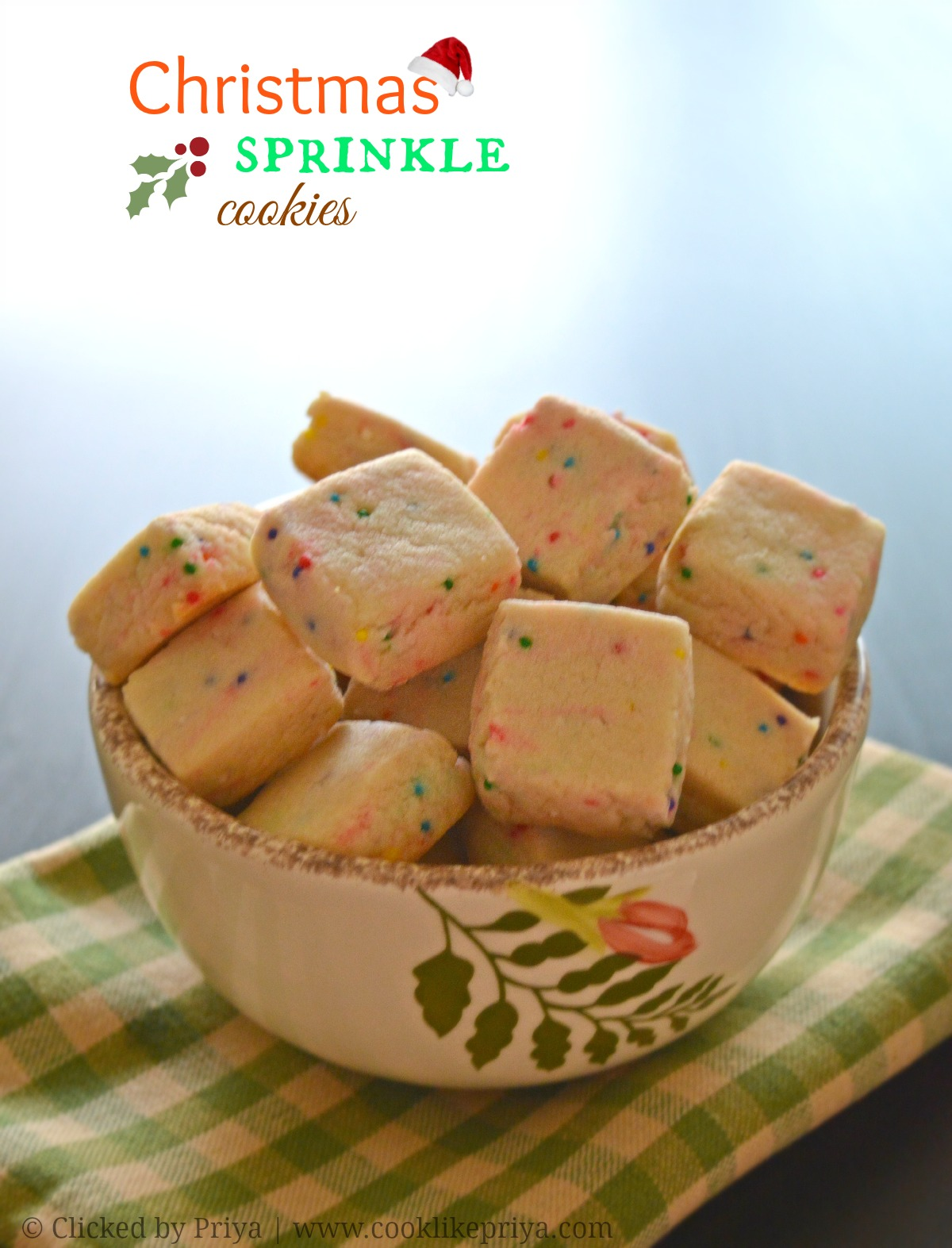 Sprinkle Shortbread Cookie Recipe
