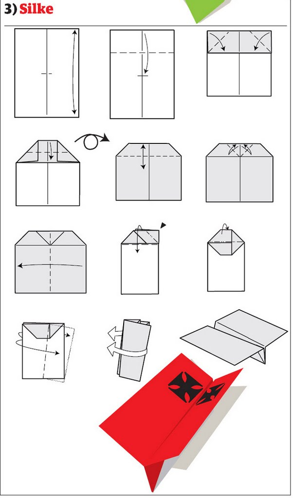 бумажный самолетик 10