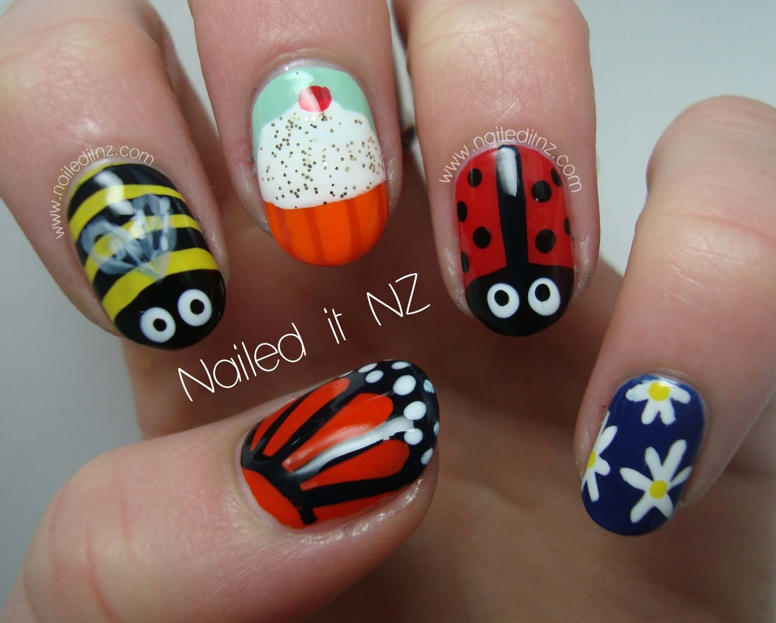 Skittle Nail Art Childrens Version
