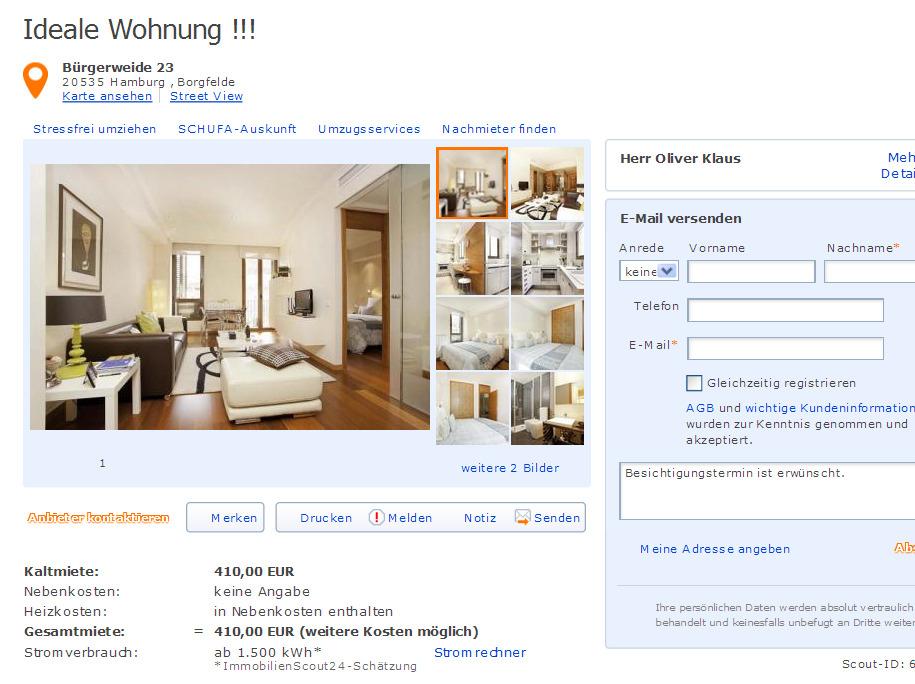 oliver klaus29 alias herr oliver klaus ideale wohnung vorkassebetrug fraud. Black Bedroom Furniture Sets. Home Design Ideas