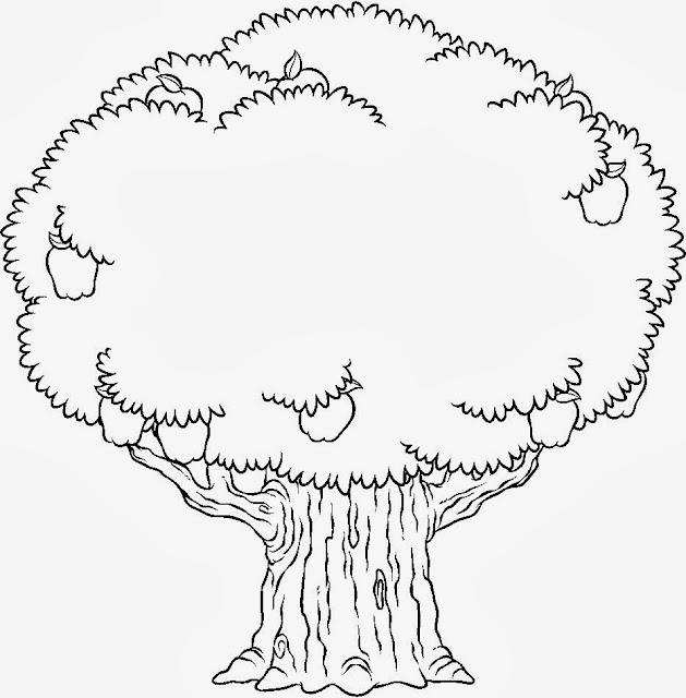 Árvore para colorir - Com frutas