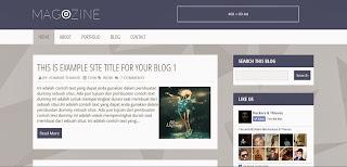 Magazine Free Blogger Templates