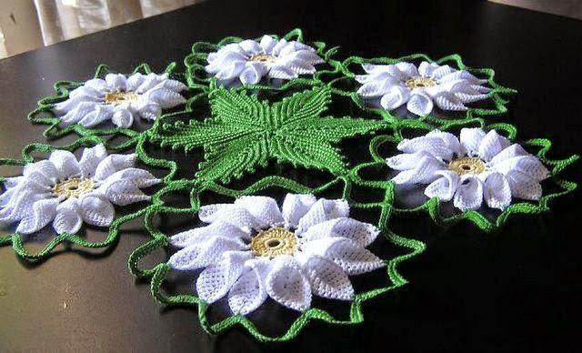 carpeta artesanal al crochet - con diagramas