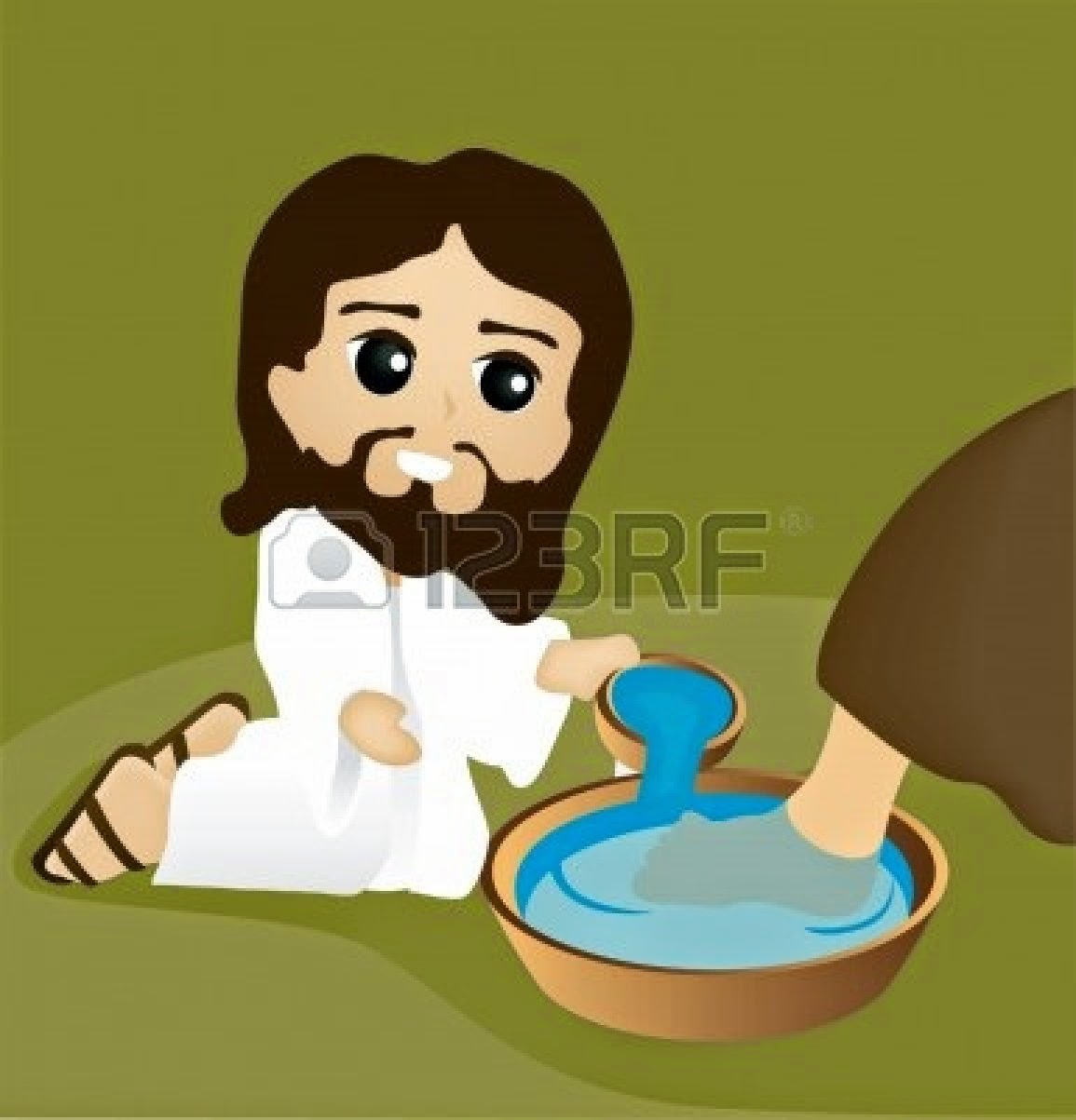 Foot being washed by Jesus
