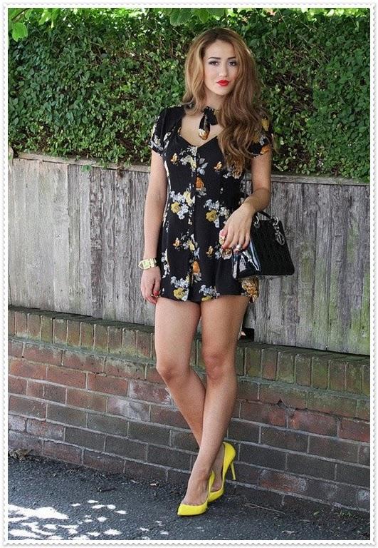 Blumen kurzes Kleid