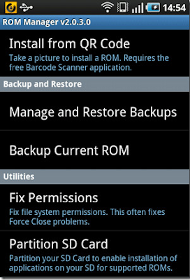 Backup And Restore ROM