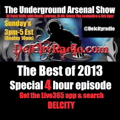 http://www.mixcloud.com/DelCityRadio/the-underground-arsenal-show-best-of-2013/