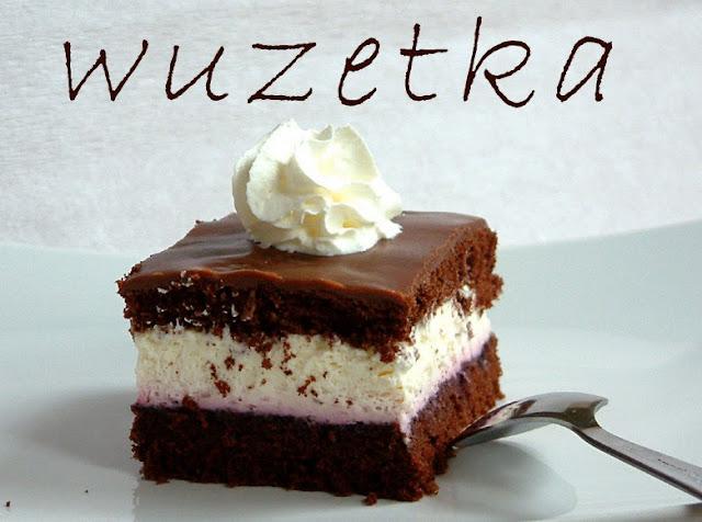 Moja urodzinowa wuzetka ;)  kaloryczność przepis ciasto z bitą śmietaną z kremem przepis na biszkopt
