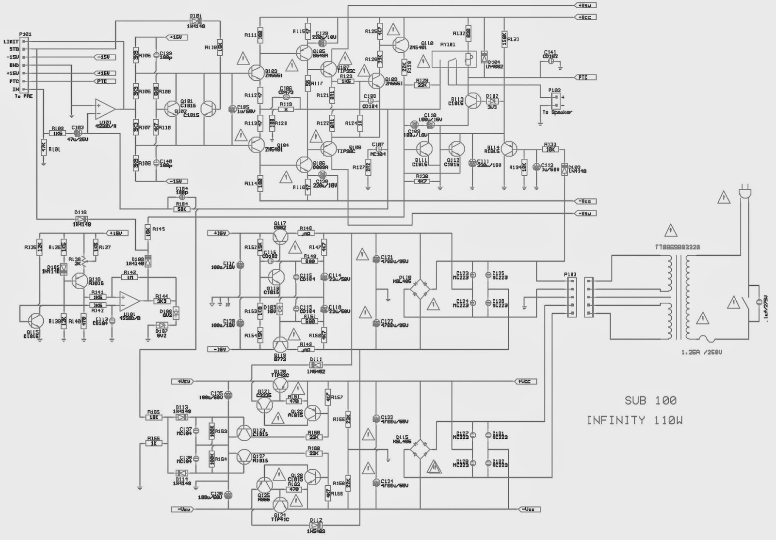 infinity primus - sub-woofer